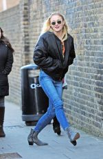 SOPHIE TURNER in Jeans Out in London 12/05/2016