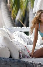 STELLA MAXWELL on the Set of VS Photoshoot in Miami 12/16/2016