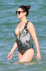 SUSIE AMY in Swimsuit at a Beach in Miami 12/28/2016