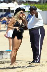 TALLIA STORM at a Beach in Barbados 12/28/2016