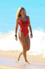 TALLIA STORM in Baywatch Swimsuit on the Beach in Barbados 12/29/2016 x12