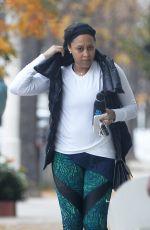 TAMERA MOWRY Leaves a Gym in Los Angeles 12/21/2016