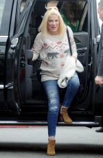 TORI SPELLING Out and About in Studio City 12/21/2016