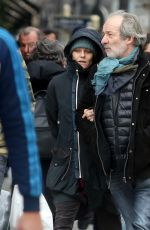 VANESSA PARADIS Out and About in Paris 12/22/2016