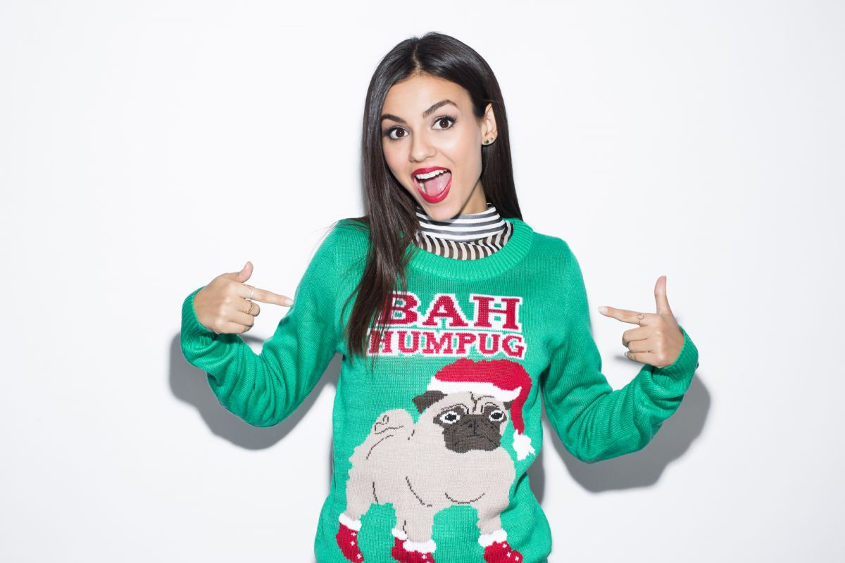 VICTORIA JUSTICE at Christmas Sweater Photoshoot for Seventeen Magazine