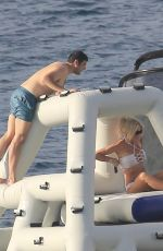 VICTORIA SILVSTEDT at a Yacht on Vacation in St. Barths 12/23/2016