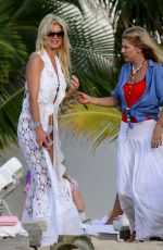 VICTORIA SILVSTEDT on Holiday in St. Barths 12/21/2016