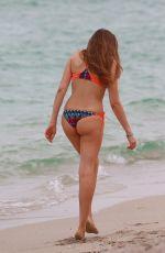 XENIA TCHOUMITCHEVA in Bikini on the Beach in Miami 12/07/2016