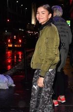 ZAENDAYA Out and About in New York 12/17/2016