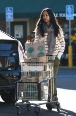 ZOE SALDANA Shopping at Whole Foods in Los Angeles 12/04/2016