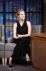 ZOEY DEUTCH on the Set of Late Night with Seth Meyers in New York 12/13/2016