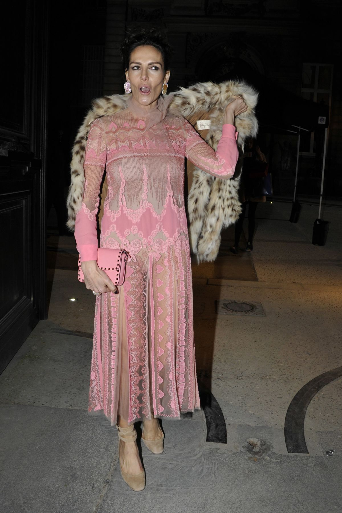ADRIANA ABASCAL at Valentino Fashion Show at Paris Fashion Week 01/25/2017