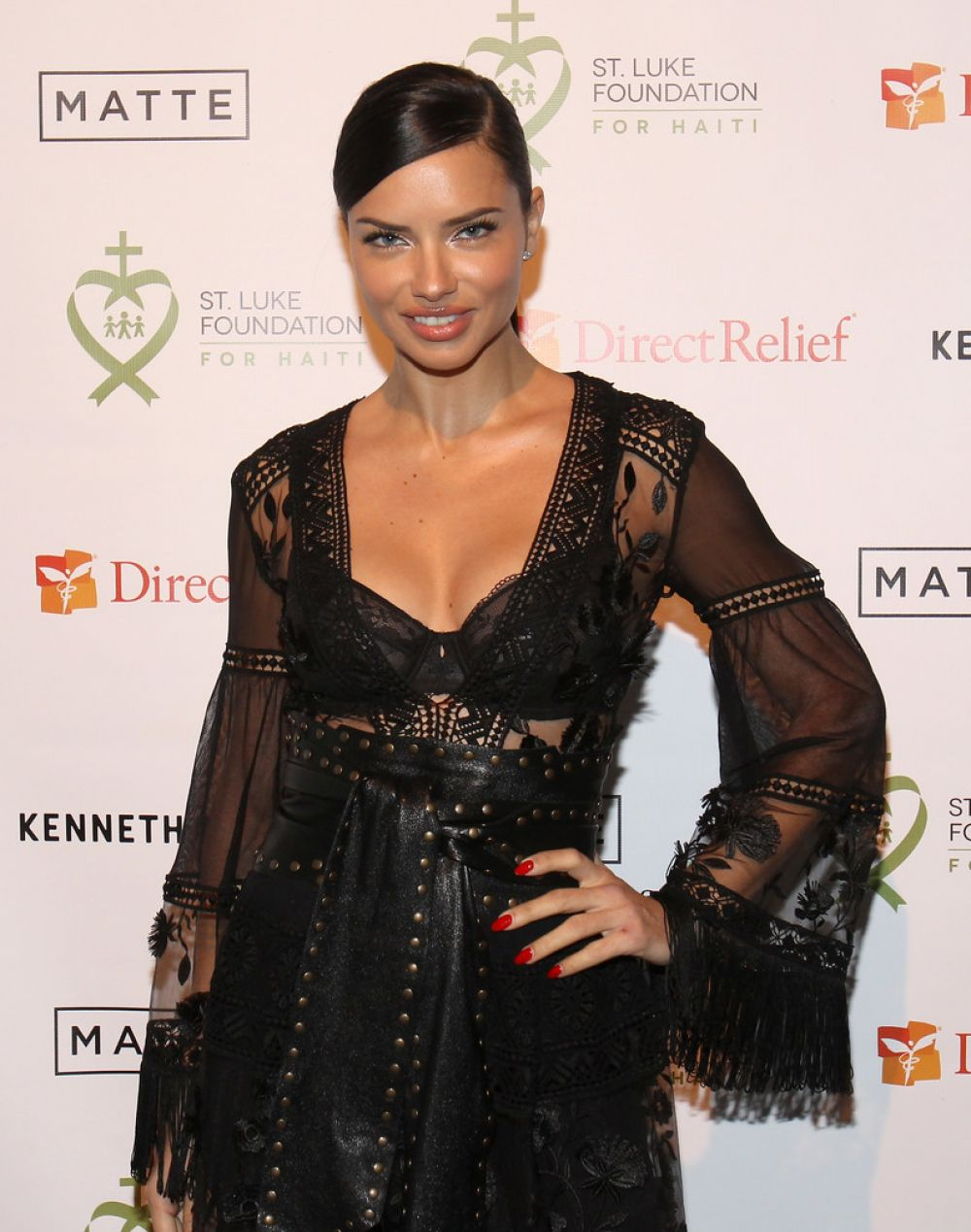 ADRIANA LIMA at 2017 St. Luke Foundation for Haiti Benefit in New York 01/10/2017