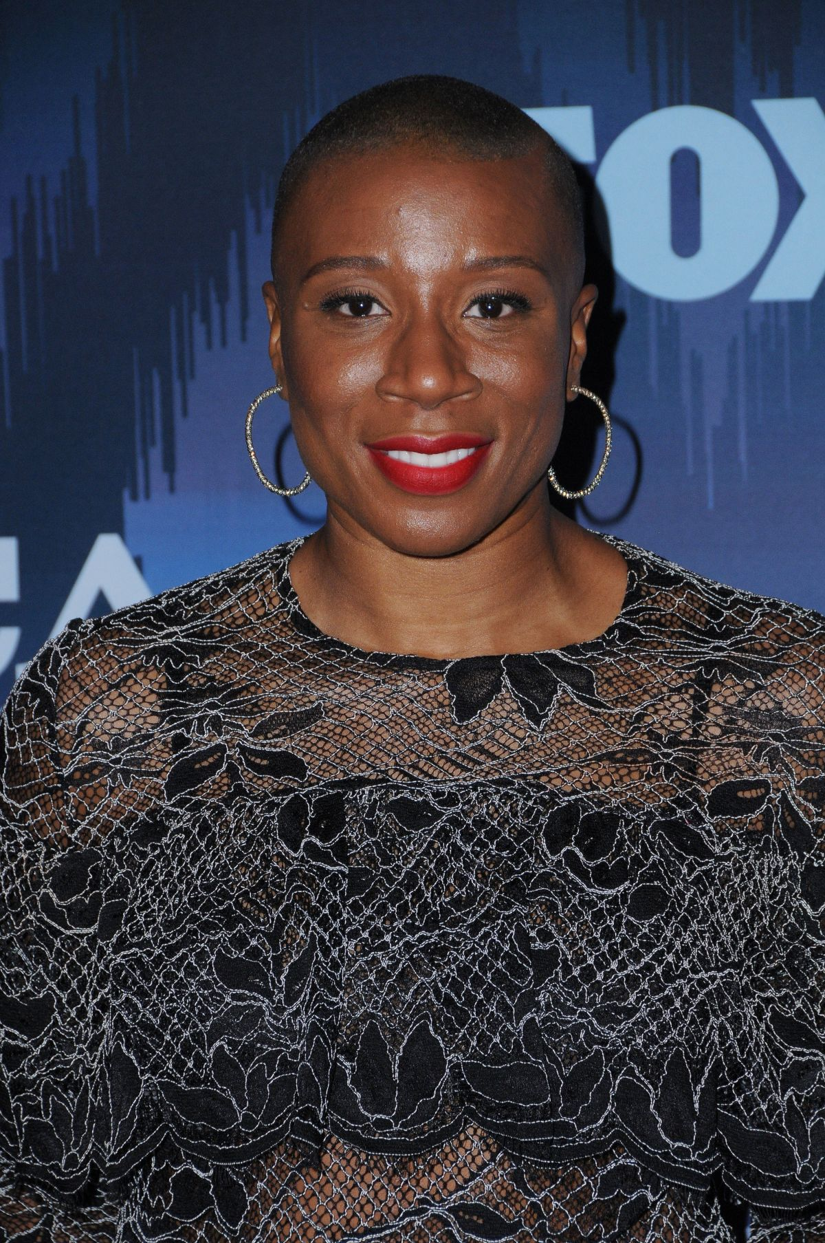 AISHA HINDS at Fox All-star Party at 2017 Winter TCA Tour in Pasadena 01/11/2017