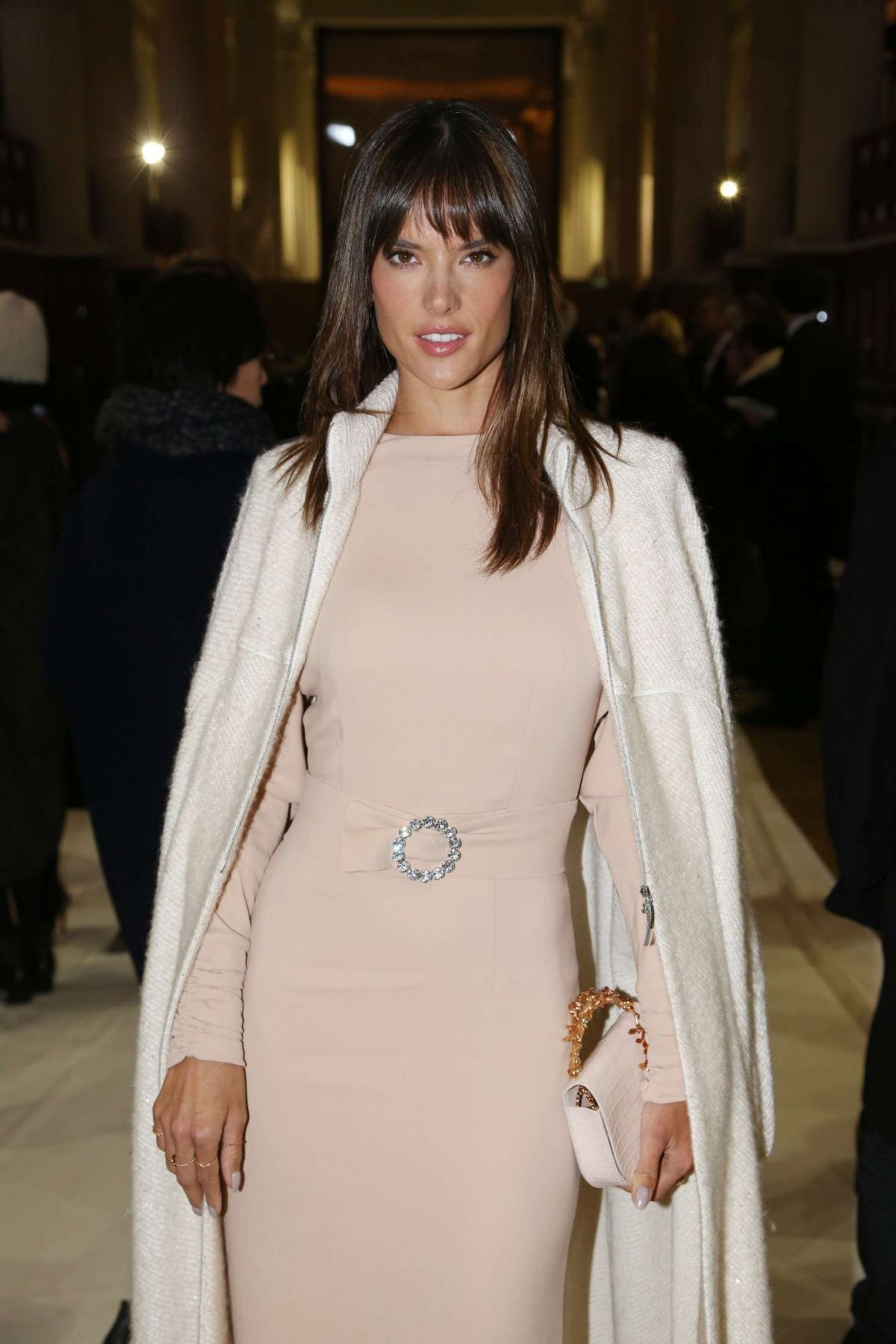 ALESSANDRA AMBROSIO at Bonpoint Collection Winter 2017 Fashion Show in Paris