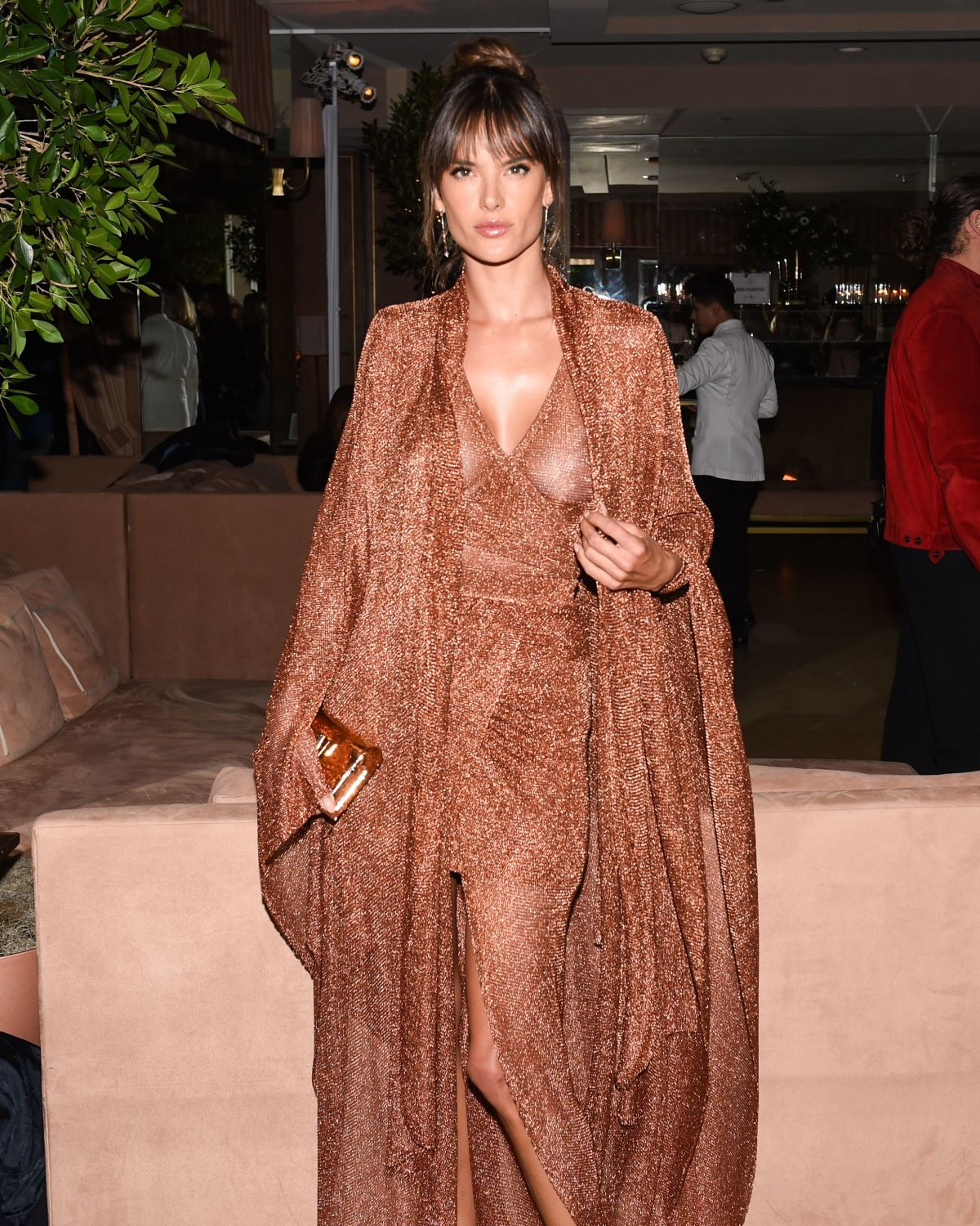 ALESSANDRA AMBROSIO at Harper's Bazaar 150 Most Fashionable Women Party in Hollywood 01/27/2017