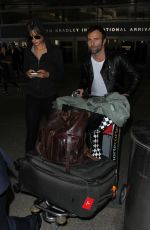 ALESSANDRA AMBROSIO at LAX Airport in Los Angeles 01/26/2017