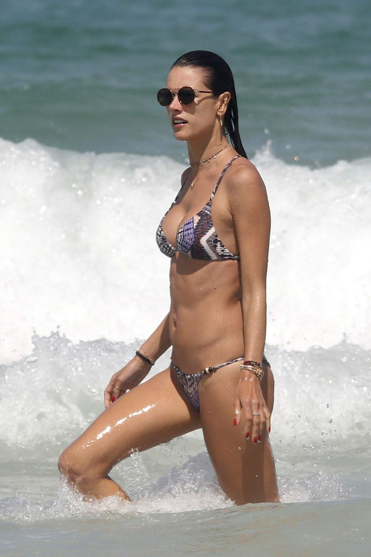 ALESSANDRA AMBROSIO in Bikini at a Beach in Florianopolis ... алессандра амбросио