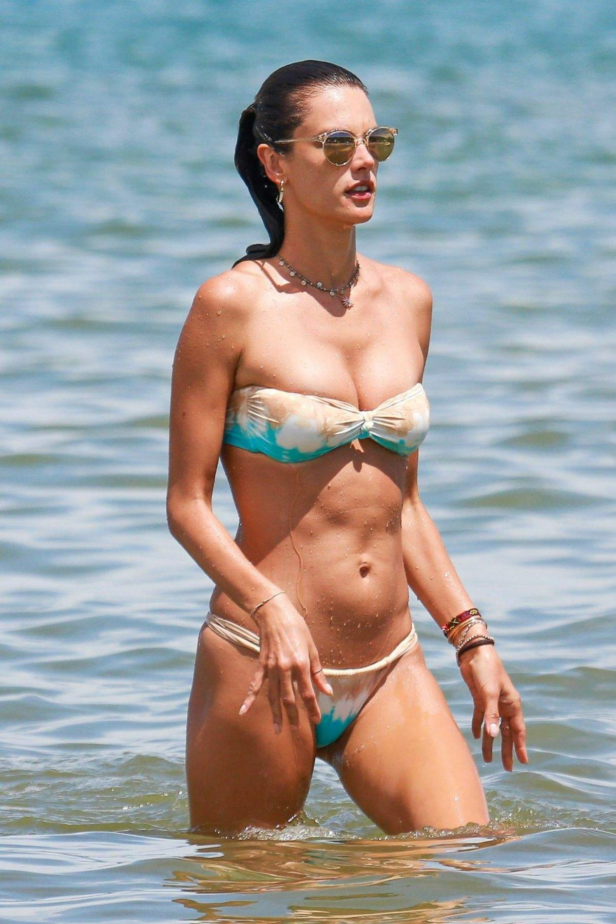 ALESSANDRA AMBROSIO in Bikini at a Beach in Florianopolis 01/10/2017