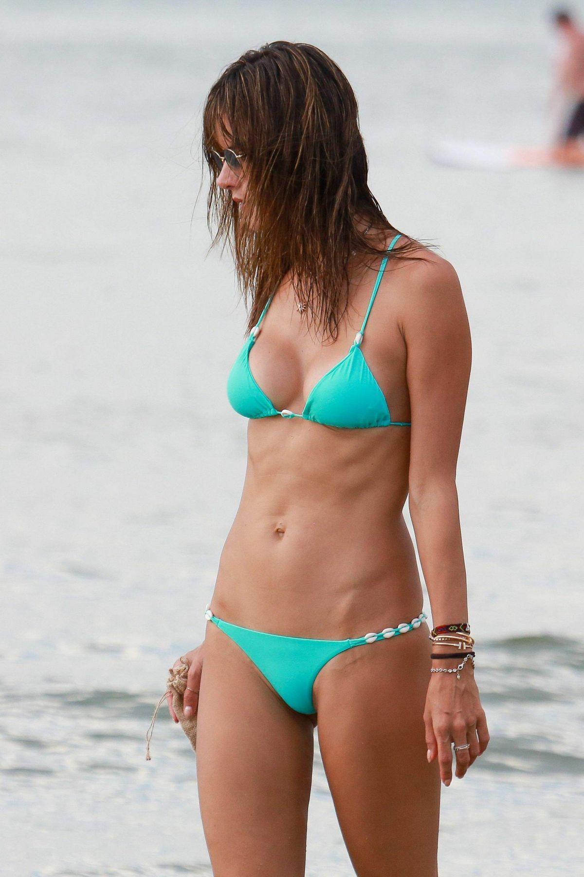 ALESSANDRA AMBROSIO in Bikini on the Beach in Canasvieiras 01/08/2017