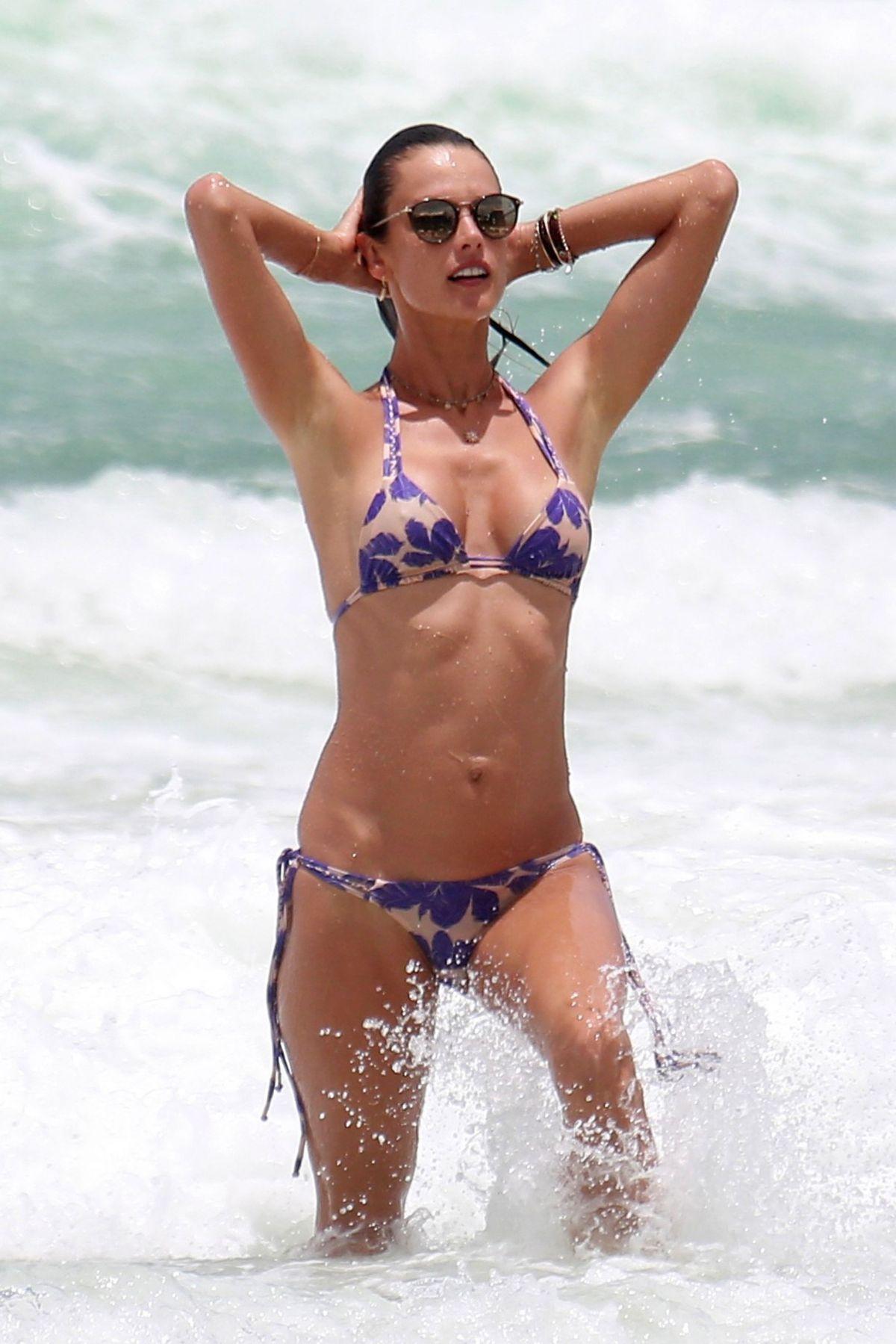 ALESSANDRA AMBROSIO in Bikini on the Beach in Florianopolis 01/12/2017