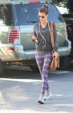 ALESSANDRA AMBROSIO in Tights Out in Los Angeles 01/16/2017