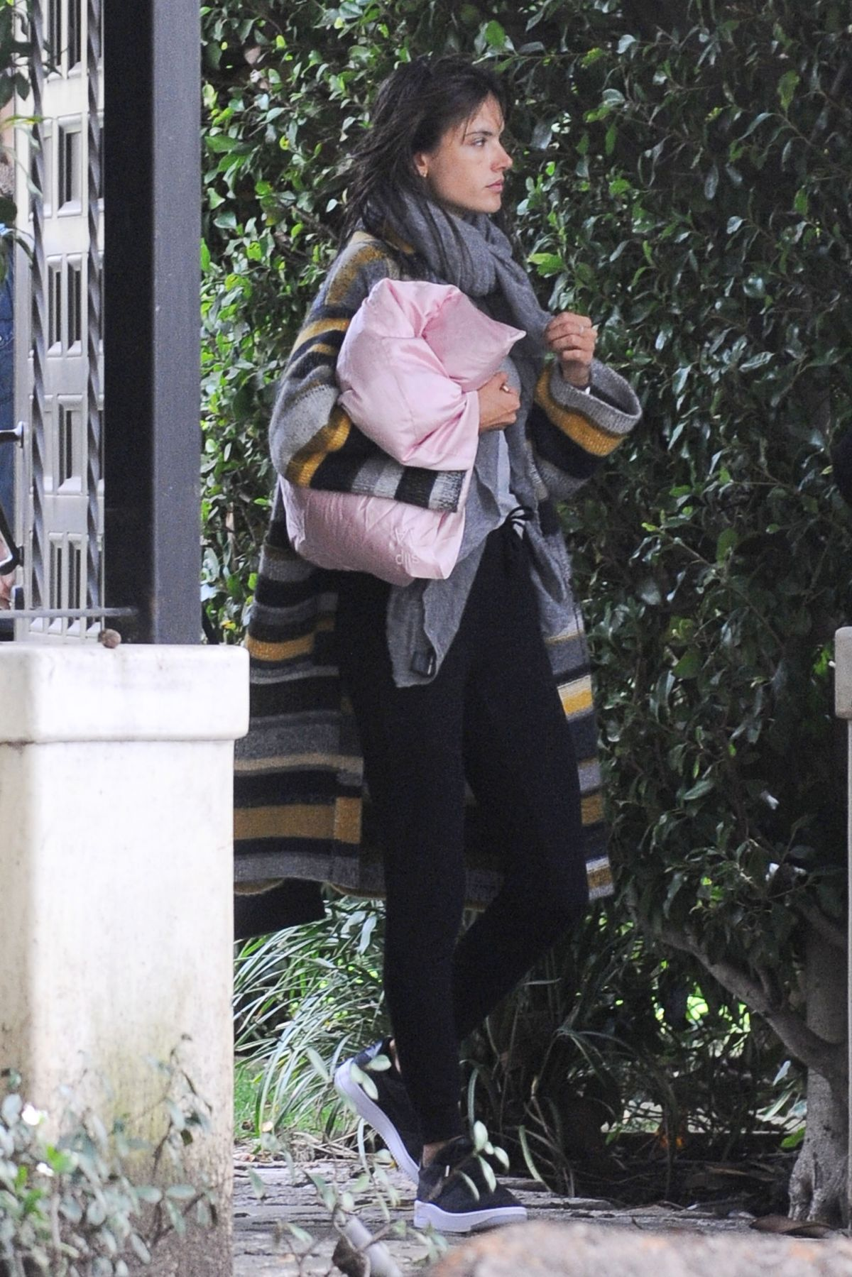 ALESSANDRA AMBROSIO Leaves Her Home in Los Angeles 01/21/2017