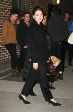 ALEXA DAVALOS Arrives at Late Show with Stephen Colbert in New York 01/05/2017