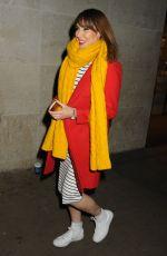 ALEXA JONES Leaves BBC Studios in London 01/04/2017