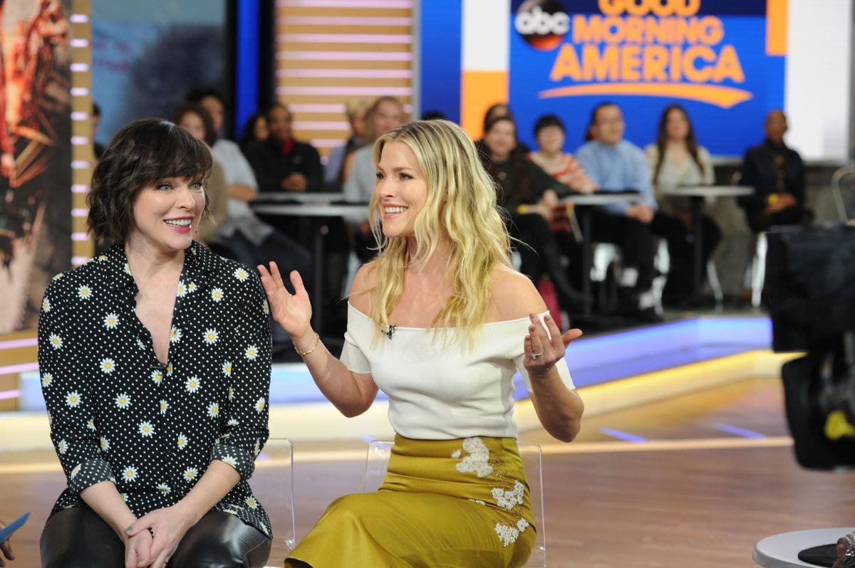 ALI LARTER and MILLA JOVOVICH at Good Morning America in New York 01/26/2017