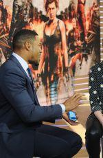 ALI LARTER and MILLA JOVOVICH at Good Morning America in New York 01/26/2017