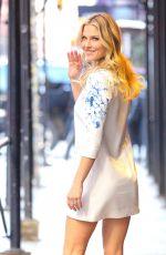 ALI LARTER in Short Dress Out in New York 01/24/2017