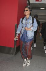 ALICIA KEYS at LAX Airport in Los Angeles 01/13/2017