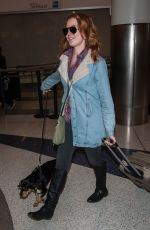 ALICIA WITT with Her Dog at LAX Airport in Los Angeles 01/15/2017