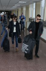 ALISON BRIE and Dave Franco Arrives in Salt Lake City 01/21/2017