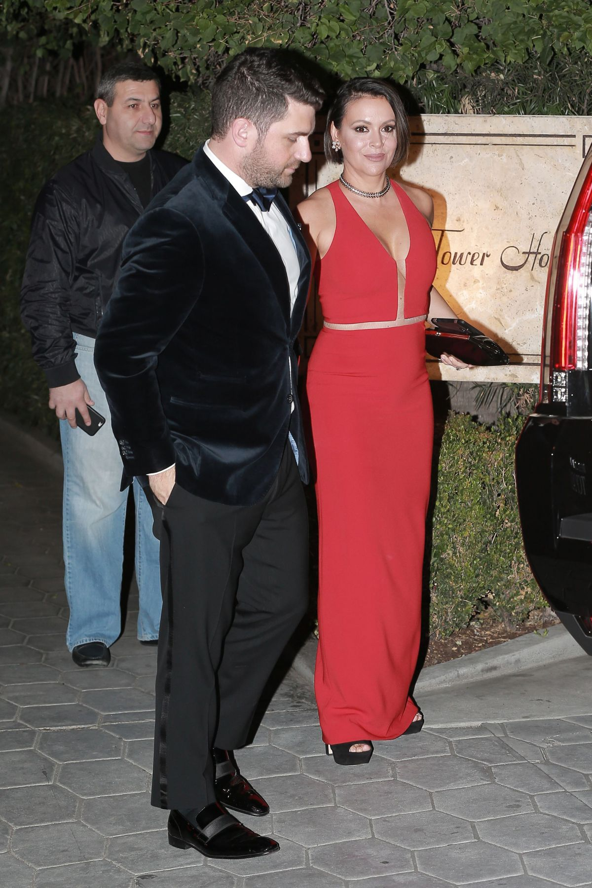 ALYSSA MILANO at CAA Golden Globes Party at Sunset Tower Hotel in Los Angeles 01/08/2017