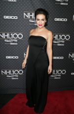 ALYSSA MILANO at NHL 100 Presented by Geico at Microsoft Theater 01/27/2017
