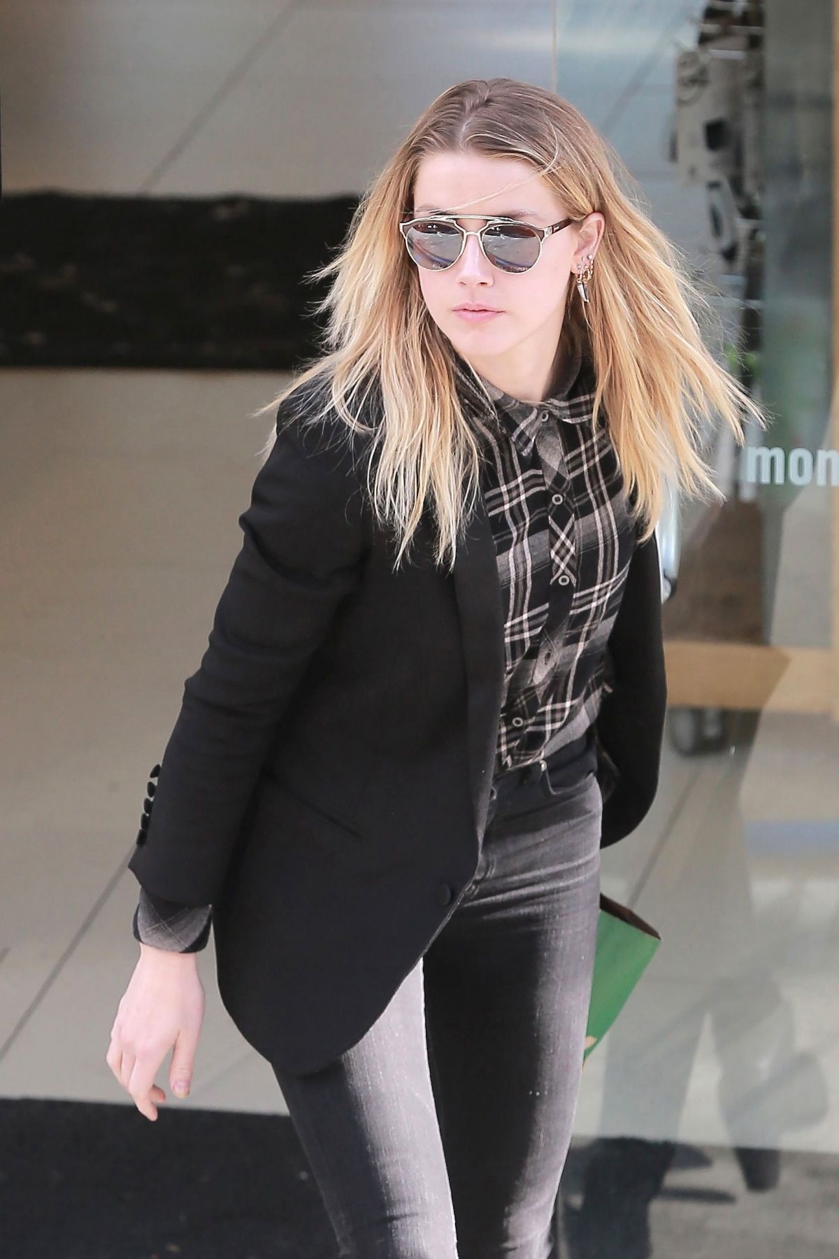 AMBER HEARD Out and About in West Hollywood 01/23/2017