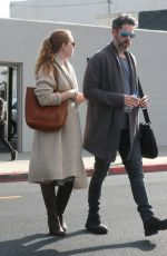 AMY ADAMS and Darren Le Gallo Out shopping in Beverly Hills 01/24/2017