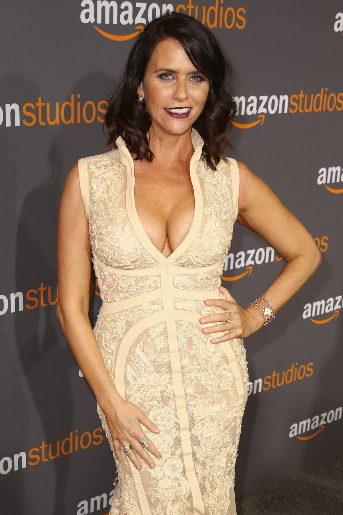AMY LANDECKER at Amazon Studios' Golden Globes Party in Beverly Hills 01/08/