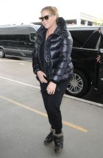AMY SCHUMER at Los Angeles International Airport 01/09/2017