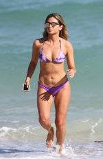 ANASTASIA ASHLEY in Bikini at a Beach in Miami 01/24/2017