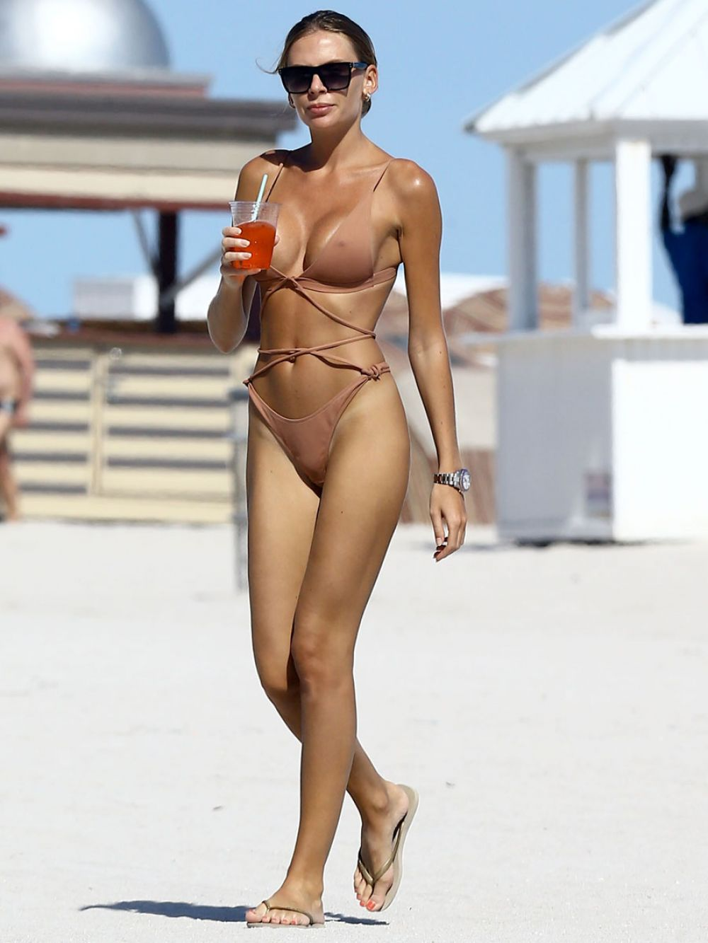 ANASTASIA SKYLINE in Bikini at a Beach in Miami 01/24/2017