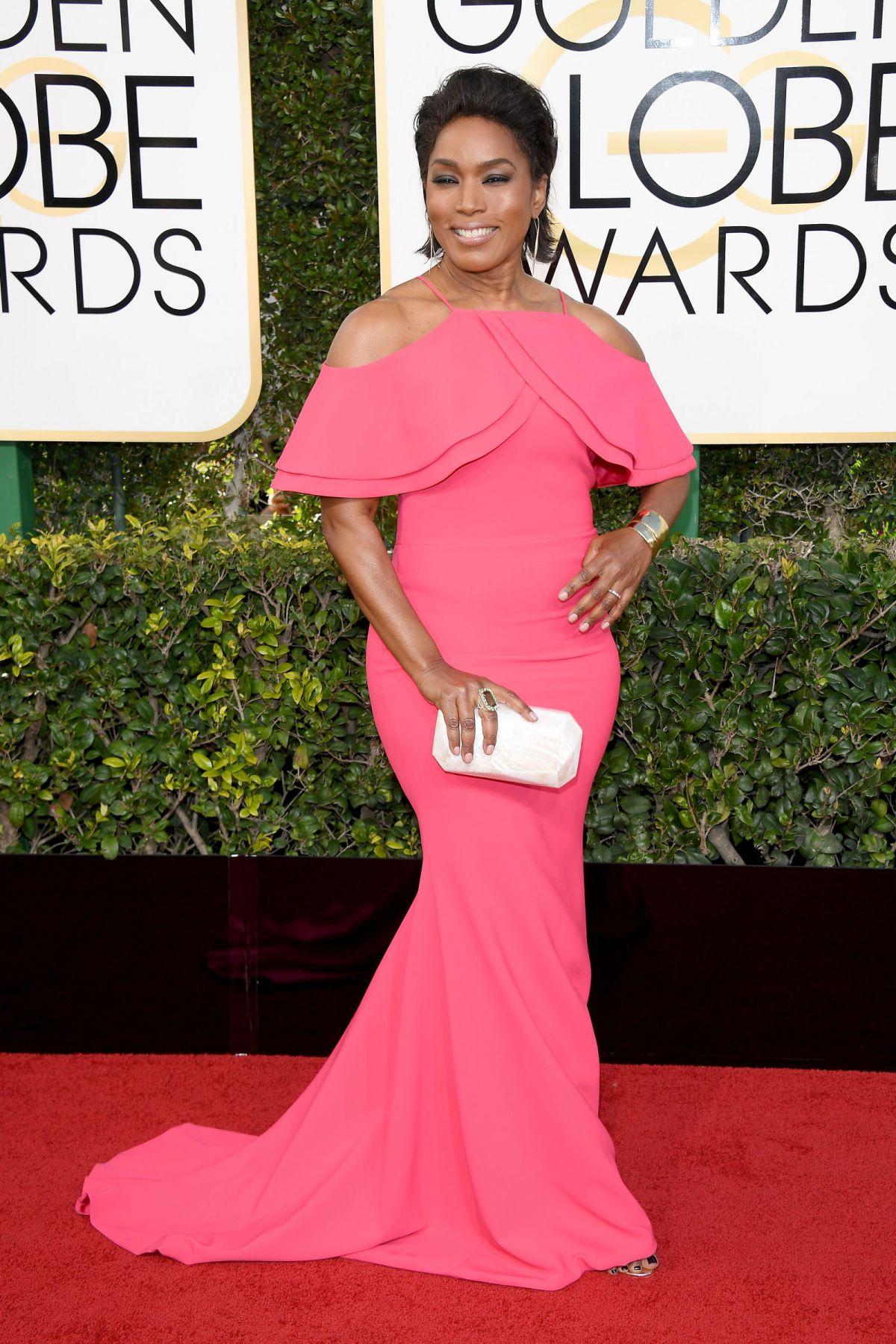 ANGELA BASSETT at 74th Annual Golden Globe Awards in ...