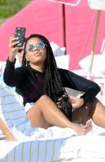 ANGELA SIMMONS at a Beach in Miami 01/12/2017