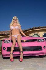 ANGELIQUE FRENCHY MORGAN Shows Her Pink v6 Camaro in Malibu 01/03/2017
