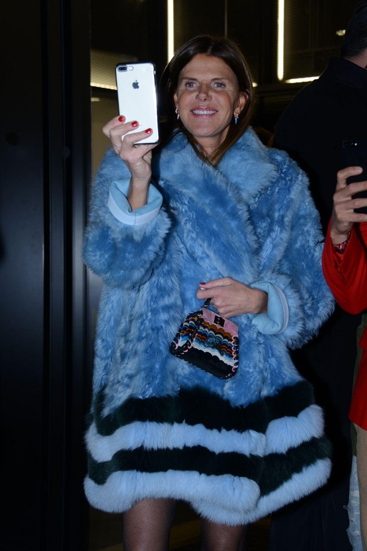 ANNA DELLO RUSSO at Fendi Fashion Show in Milan 01/16/2017