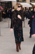 ANNA WINTOUR Arrives at Schiapparelli Fashion Show in Paris 01/23/2017