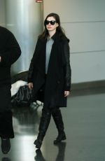 ANNE HATHAWAY at JFK Airport in New York 01/06/2017