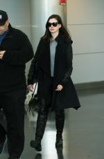 ANNE HATHAWAY at Los Angeles International Airport 01/06/2017